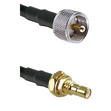 UHF Male on RG400 to SMB Male Bulkhead Cable Assembly