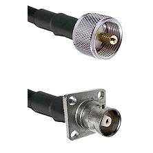 UHF Male on RG58C/U to C 4 Hole Female Cable Assembly