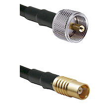 UHF Male on RG58C/U to MCX Female Cable Assembly