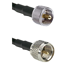 UHF Male on RG58C/U to Mini-UHF Male Cable Assembly
