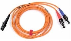 Custom Length MTRJ to ST Multi Mode Duplex Fiber Optic Cable 62.5/125um