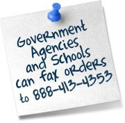 We accept Government and School Purchase Orders