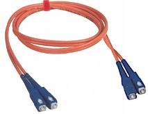 Custom Length SC to SC Multi Mode Duplex Fiber Optic Cable 62.5/125um