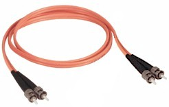 10 Meter St to St Multi Mode Duplex Fiber Optic Cable 62.5/125um